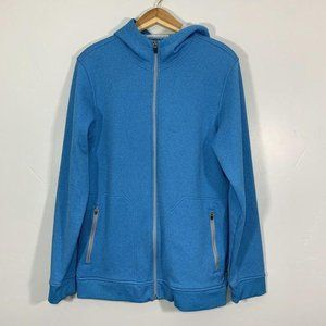 Under Armour Cold Gear Blue Teal Zip Up Hoodie